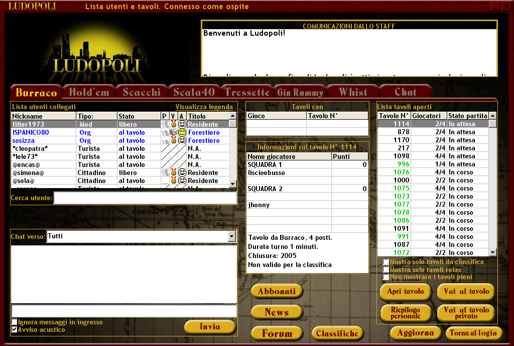 Screenshot login